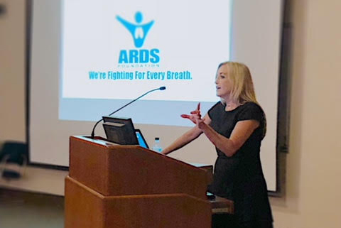 Eileen Rubin, President of ARDS Foundation was invited to speak at Mayo Clinic Critical Care Grand Rounds