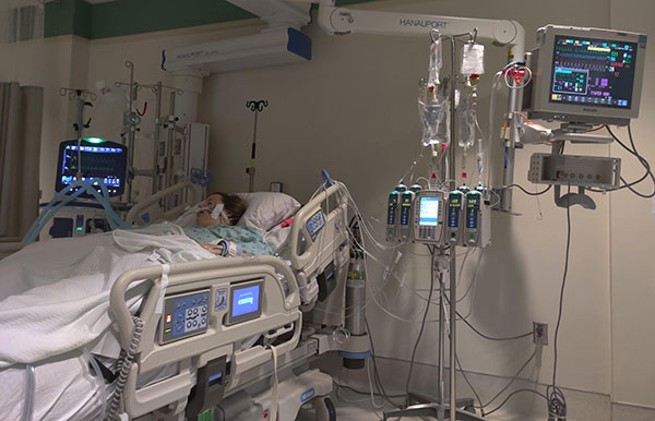 Crystal in intensive care unit